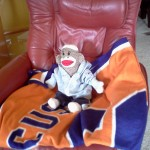 Sock Monkee Jr Cheering on Syr