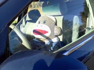 Sock Monkey leading the convoy.